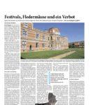 """""""Festivals, Fledermäuse und ein Verbot"""" Aachener Zeitung/Aachener Nachrichten 12.10.2016"""