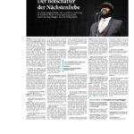 """""""Der Botschafter der Nächstenliebe"""" Aachener Zeitung/Aachener Nachrichten 03.09.2016"""